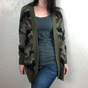 Urban Outfitters BDG Camo Open Front Cardigan